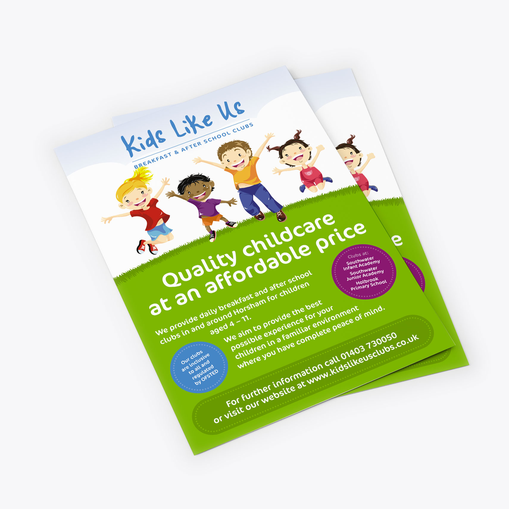 Kids Like Us flyer design