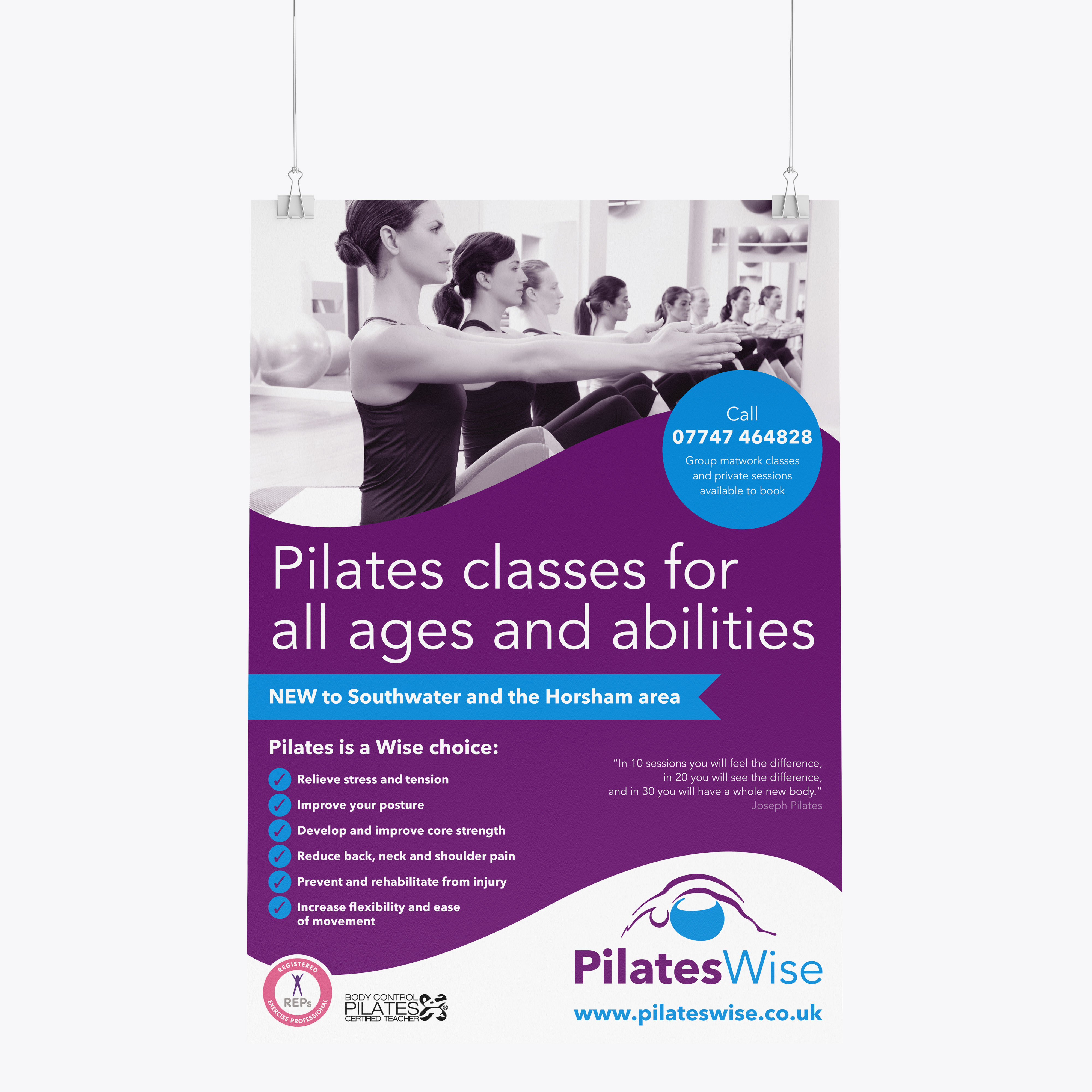 Pilateswise poster design