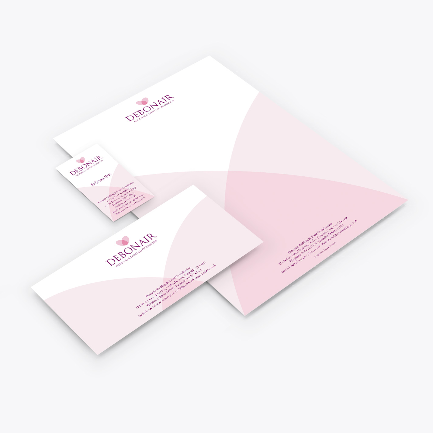 Debonair wedding stationery design