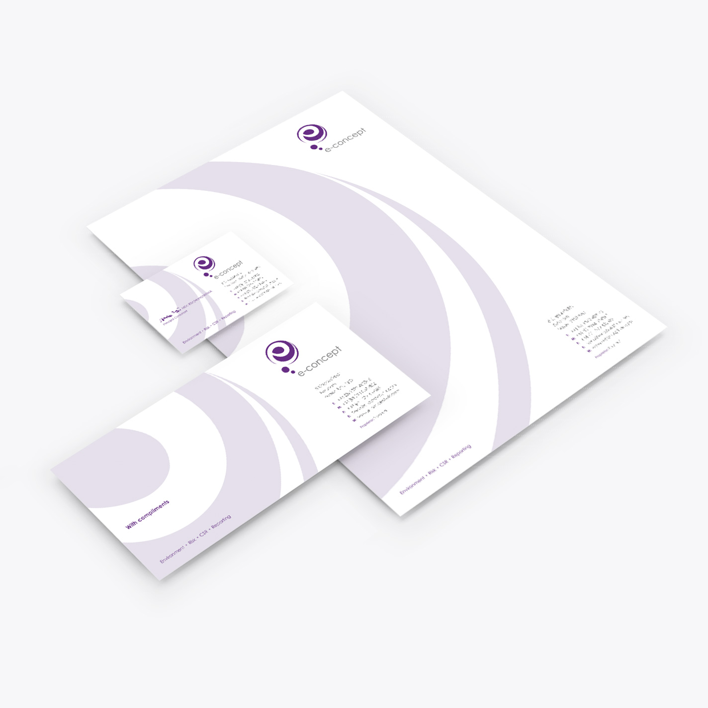 e-concept stationery design