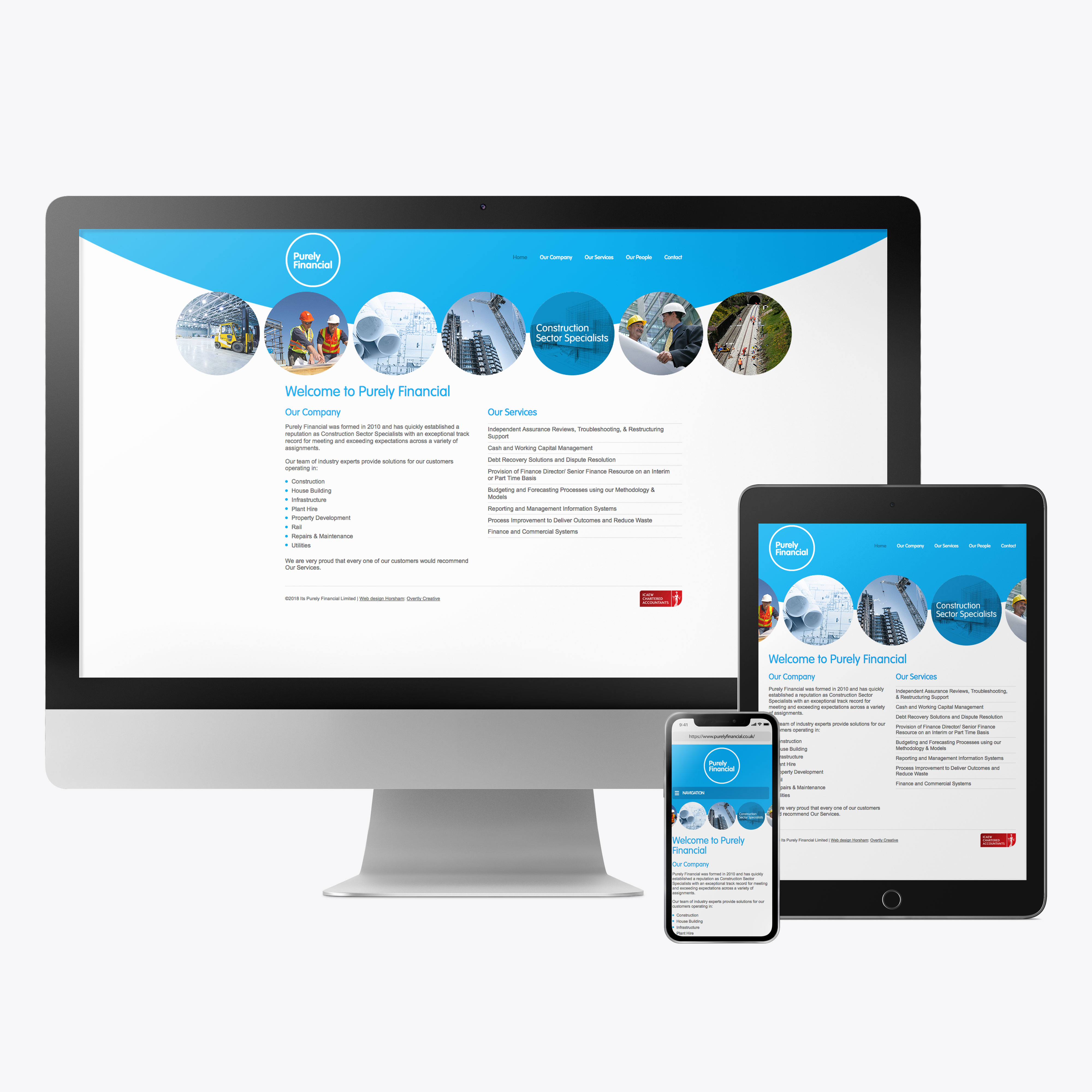 Purely Financial accountants website design