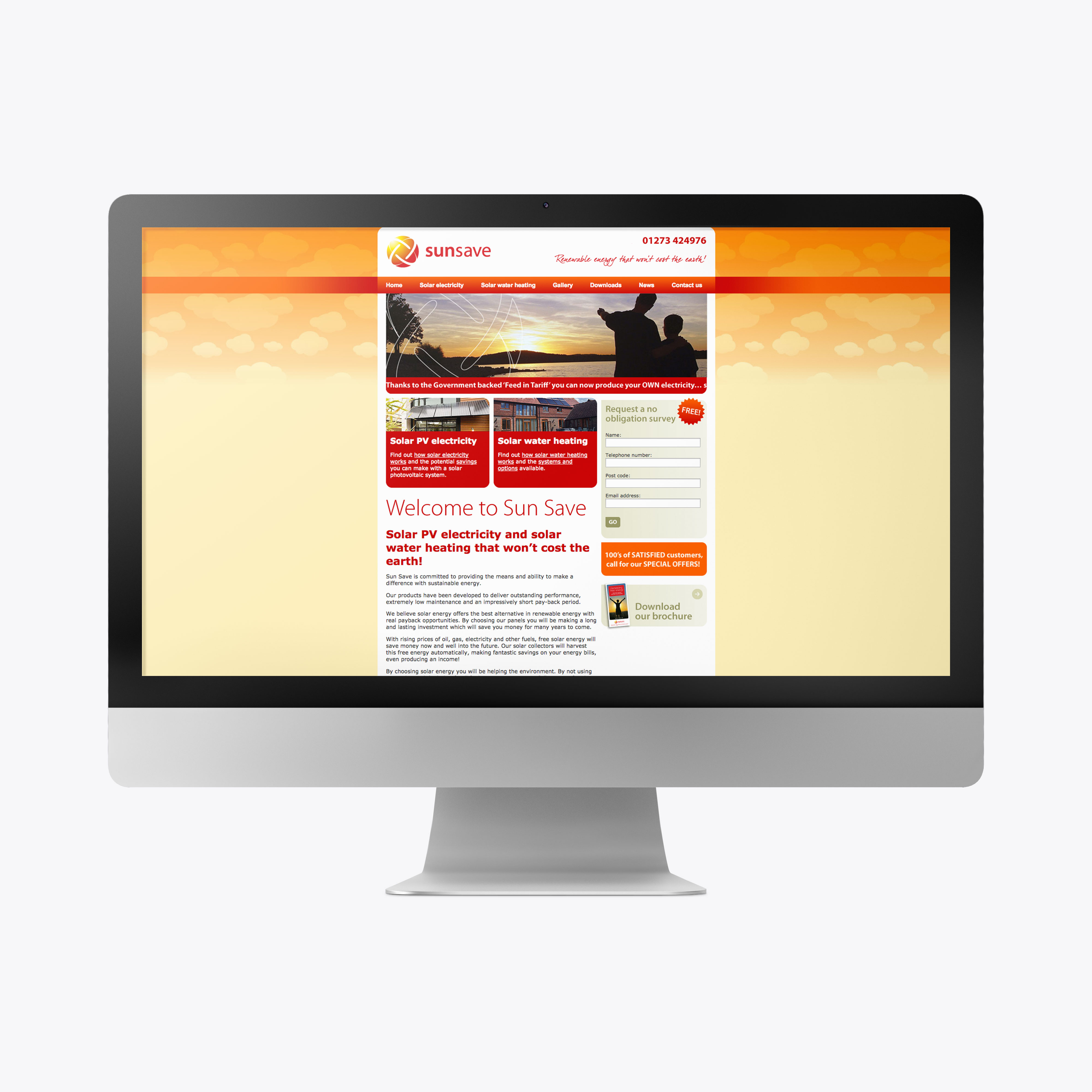 Sun Save website design