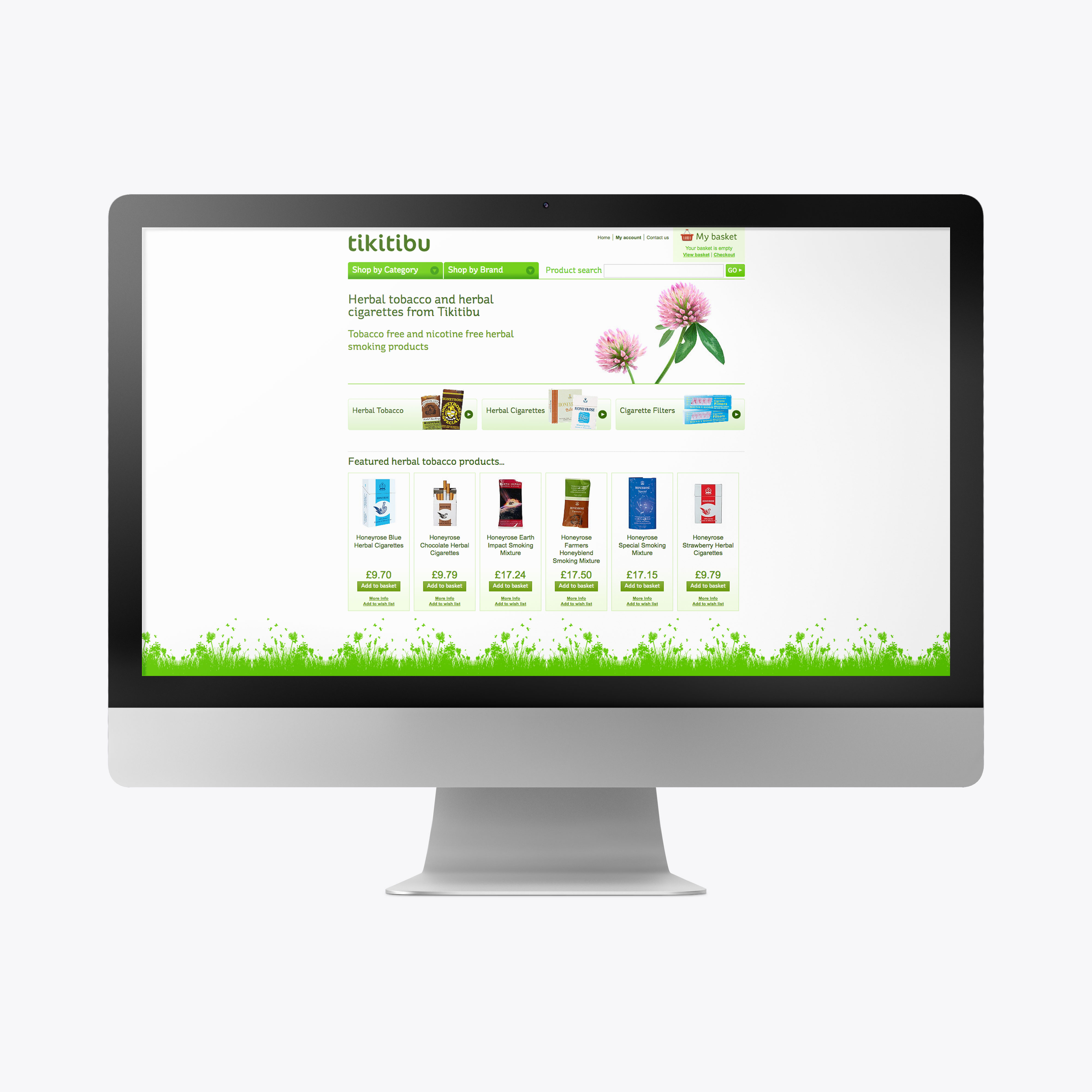 Tikitibu ecommerce website design